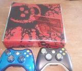 xbox 360 con 2 mandos