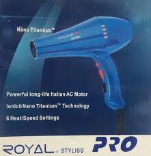 Secador de pelo ,Marca Royal 2400wat. doble temperatura y velocidad,