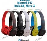 AUDIFONOS MANOS LIBRES X BLUETOOTH DE CASCO MICROSD/RADIO/PLOT AUDIO #52947671