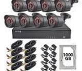 Sistema de cámaras de seguridad (Kit 8 Camaras Metalicas 2mp 1 Tb)