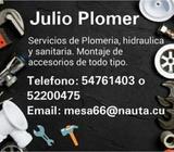 SERVICIOS DE PLOMERIA A DOMICILIO !!! PLOMERO JULIO 54761403