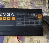Vendo Fuente EVGA 500W 40A, 80 PLUS, CABLES ENMALLADOS 4 MESES DE USO