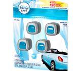 Paquete de 4 ambientadores para carros marca Febreze