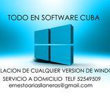52549509 *LLAMA YA* /INSTALACION DE CUALQUIER VERSION DE WINDOWS/ SERVICIO A DOMICILIO .............