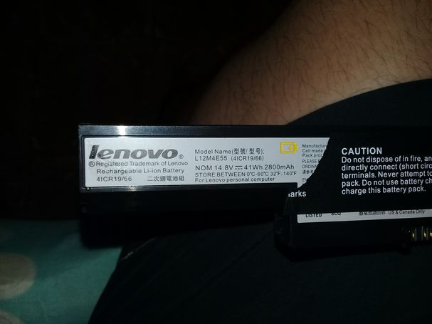 bateria de laptop lenovo L12M4E55 nueva