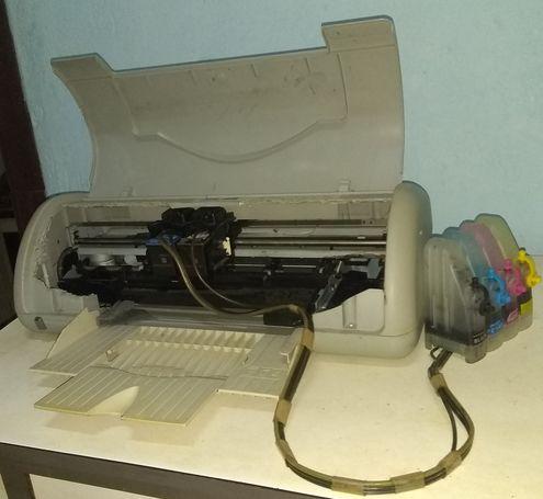 vendo impresora HP con sistema continuo de tinta