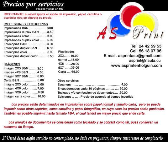 Impresiones en AsPrint en Holguín