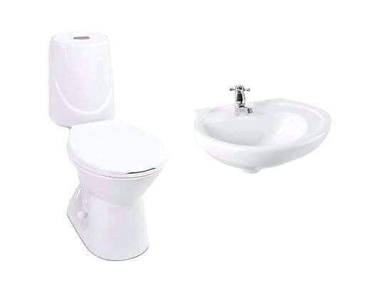juego de taza y lavamano corona